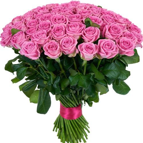 Купить на заказ Букет из 101 розовой розы с доставкой в Абае