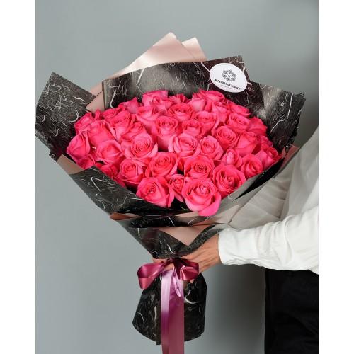 Купить на заказ Букет из 51 розовых роз с доставкой в Абае